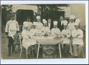 V119-6240/ Königstein Ts. Grand Hotel 1915 Konditoren Köche Foto AK