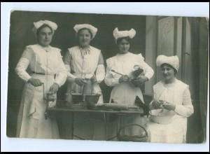Y16202/ Haushaltungsschule Küche Kochen 1913 Foto AK
