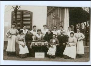 Y16142/ Kochkurs Haushaltungsschule Kochen Foto AK ca.1910