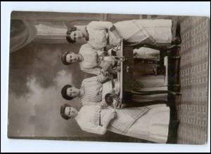 Y16141/ Haushaltungsschule Küche Kochen Kaffeemühle Foto AK 1912