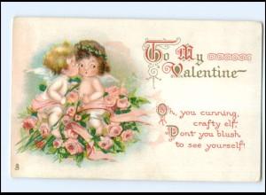 Y16017/ Tuck` AK Valentine Engel Litho Ak ca.1910