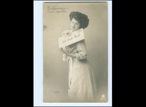 V085/ Briefmarkensprache schöne Foto AK 1911