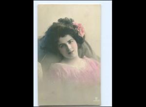 Y16080/ Junge hübsche Frau Foto koloriert AK ca.1910
