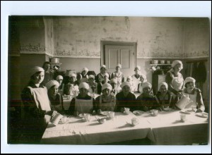 V031/ Haushaltungsschule Küche Kochen Foto AK ca.1912