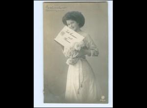 V081/ Briefmarkensprache schöne Foto AK 1911