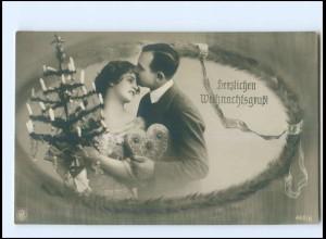 Y16182/ Weihnachten Paar mit Lebkuchenherz NPG Foto AK ca.1910