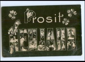 V094/ Fotomontage Neujahr schöne Foto AK ca.1910
