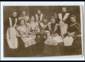Y16136/ Haushaltshilfen Foto AK ca.1910