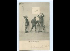 V038/ Fotoapparat Kinder Jungen Neujahr AK 1904