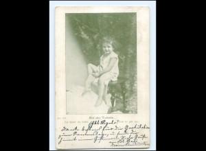 Y16211/ Kind Mädchen bei der Toilette AK 1900