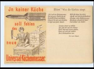 V006/ Berufe , Universal-Küchenmesser Köchin singt... AK ca.1900