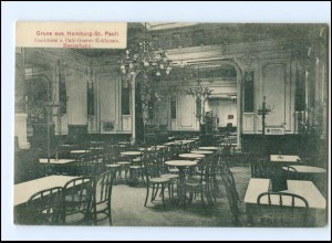 U9978/ Hamburg St. Pauli Cafe G. Kohlmann, Reeperbahn AK 1913