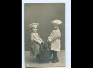 Y16176/ Kinder als Koch schöne NPG Foto AK 1908