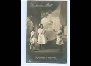 Y16196/ Kinder spielen Ball ! Mädchen schöne Foto AK 1915