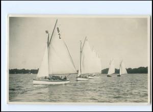 V111/ Neustadt Holstein Hanseatische-Yacht-Schule Foto AK 1928 Segelboote