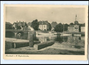V112/ Neustadt Holstein Hafenbrücke Foto AK ca.1935
