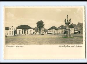 V113/ Neustadt Holstein Marktplatz mit Rathaus Foto AK ca.1938