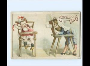 Y16264/ Kaufmannsbild Cocolat-Vinay Fotoapparat Kinder Litho ca.1900