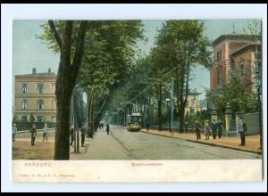 XX10249/ Hamburg Harburg Buxtehuder Straße Straßenbahn AK ca.1910