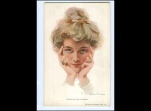 XX009906/ Philip Boileau juneg Frau, Ringe am Finger AK ca.1912