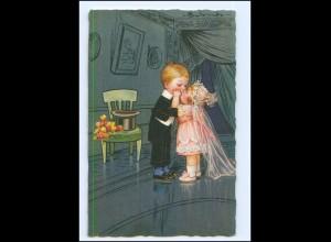 XX009899/ Colombo Künstler AK Kinder als Brautpaar 1927