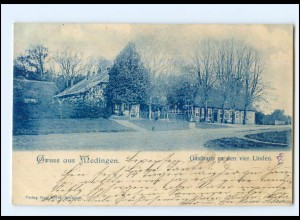 XX10127/ Gruß aus Medingen Gasthaus zu den vier Linden 1899 AK