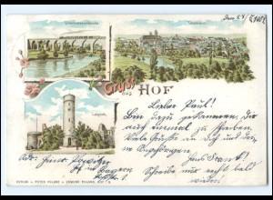 XX10220/ Gruß aus Hof Litho AK 1901