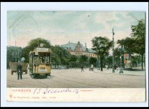 XX009881/ Hamburg Holstenthor Straßenbahn AK 1904