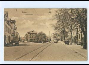 XX10234/ Gießen Ludwigsplatz Straßenbahn AK 1918