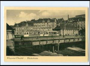 XX10111/ Wuppertal-Elberfeld Blücherbrücke Straßenbahn 1937 AK