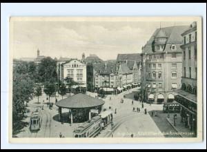 XX10218/ Augsburg Adolf-H.-Platz Straßenbahn AK 1936