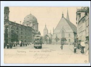 XX10216/ Nürnberg Ludwigstrtaße Straßenbahn AK ca.1900