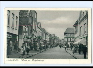 XX10118/ Aurich Markt mit Wilhelmstraße ca.1950 AK