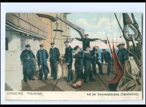 XX009933/ Unsere Marine - Auf der Kommandobrücke AK a.1915