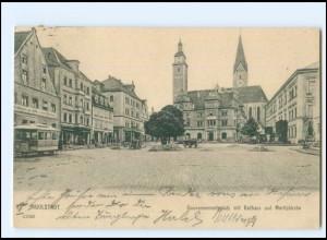 XX10074/ Ingolstadt Gouvernementsplatz Pferdebahn AK 1905
