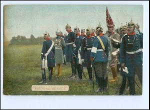 XX10057/ Deutscher Kriegerbund - Kaiser Wilhelm im Manöver 1907