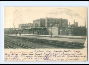 XX10155/ Gruß aus Uelzen Bahnhof AK 1899