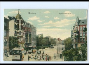 XX009979/ Flensburg Apenraderstraße Straßenbahn AK 1909