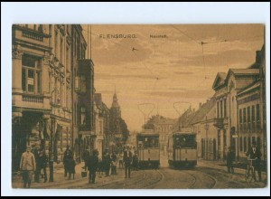 XX009950/ Flensburg Neustadt Straßenbahn AK ca.1920