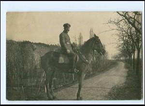 Y16491/ Soldat zu Pferde Foto AK 1. Weltkrieg AK ca. 1915