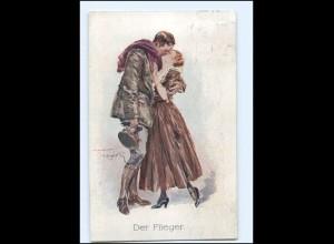 Y16511/ 1. Weltkrieg AK Der Flieger - Künstler Ak 1917