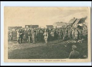 Y16509/ 1. Weltkrieg AK Krieg im Osten - Übergabe russischer Spione 1915