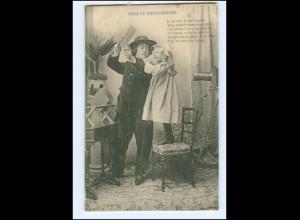 Y16513/ Chez le Photographie Fotograf und Mädchen Fotoapparat AK ca.1910