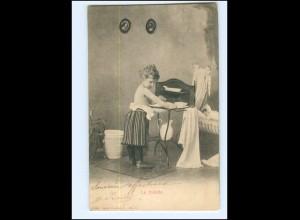 Y16525/ La toilette - Mädchen wäscht sich Waschen 1904 AK