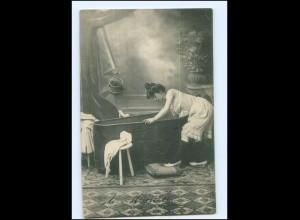 Y16526/ Frau badet Badewanne Waschen AK 1906