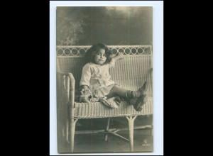 Y16530/ Kleines Mädchen schöne Foto AK ca.1912