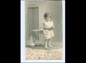 Y16535/ Kleines Mädchen wäscht sich Waschen AK 1904