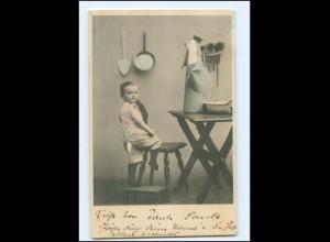 Y17220/ Kind Junge mit Zucker AK 1905
