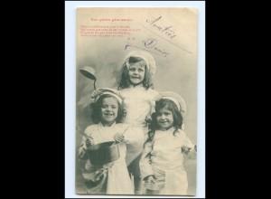 Y16555/ Nos petits gate-sauce, Kinder kochen AK 1903