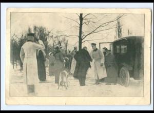Y16552/ Wohlfarts-AK Sanitätshunde, Herzogpaar zur Besichtigung 1917